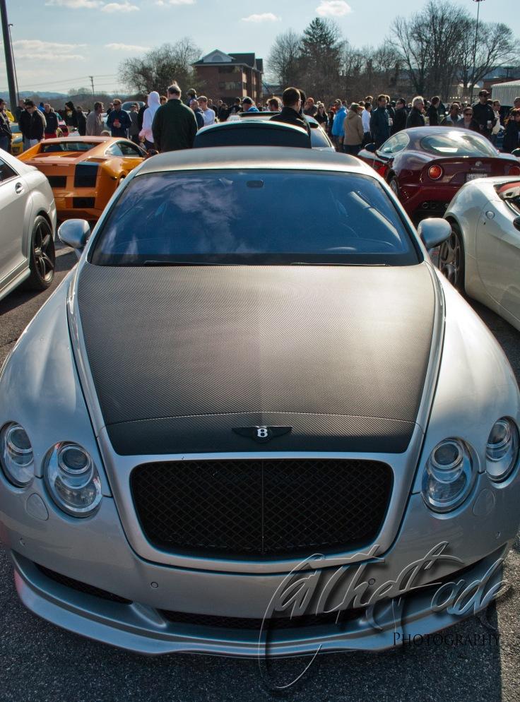 Bentley carbon fiber hood copy