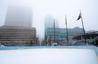 Foggy Ice Rink